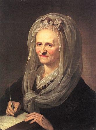 Anna Louisa Karsch - Anna Louisa Karsch portrait by Karl Christian Kehrer, 1791