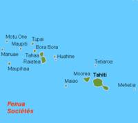 Localización de Tahití.