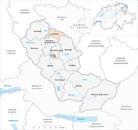 Map of Luetisburg