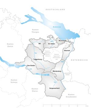Canton of St. Gallen - Wahlkreise