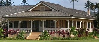 Lanai (architecture) - Albert Spencer Wilcox beach house