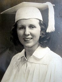 Kay McNulty in her high school graduation portrait, 1938.