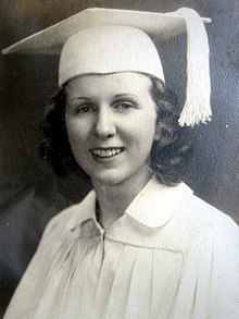 Kay McNulty in her high school graduation portrait, 1938