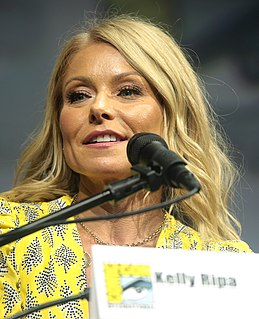 Kelly Ripa American actress and talk show host