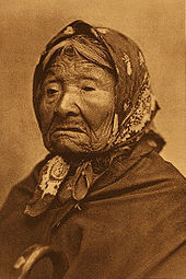 Princess Angeline of the Duwamish tribe in an 1896 photogravure by Edward Sheriff Curtis