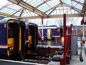 Glasgow South Western Line - Class 156s at Kilmarnock