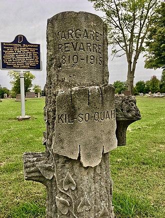 Kiilhsoohkwa - Headstone at Glenwood Cemetery in Roanoke, IN commemorating and memorializing Kiilhsoohkwa.