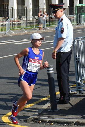 Kim Hye-gyong - Image: Kim Hye Gyong IAAF World Championships Moscow 2013 marathon women