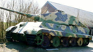 La Gleize -  A preserved Tiger II tank left by the Kampfgruppe Peiper at La Gleize in December 1944