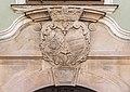 Klagenfurt Alter Platz 29 Palais Stampfer Supraporte Wappenkartusche 18072016 3166.jpg