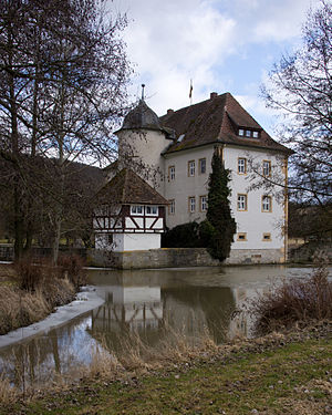 Sulzfeld, Rhön-Grabfeld - The small water castle Kleinbardorf