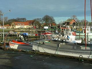 Klintholm Havn village in Denmark