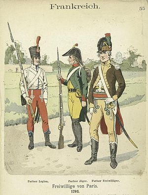 Germanic Legion - In describing the uniforms of the Germanic Legion, Knötel referred to the type of French revolutionary shown on the right