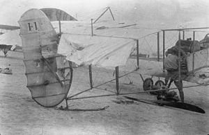 Michael Knatchbull, 5th Baron Brabourne - Damage from enemy anti-aircraft fire sustained by a Farman  of No. 3 Squadron RNAS, flown by Reginald Marix with Lt. Knatchbull as observer, June 1915.
