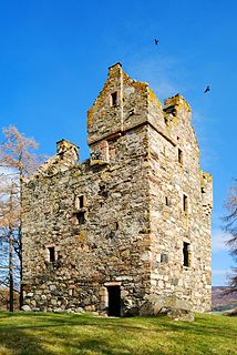 Knock Castle, Aberdeenshire ruined tower house in Aberdeenshire, north-east Scotland