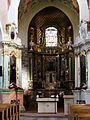 Kościół, ob. par. pw. św. Jana Ewangelisty, 2 poł. XI, XIII-XVI-XVIII wnętrze (8).JPG