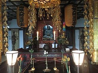 Daishō-in - Kobo Daishi image at Daishoin, Miyajima