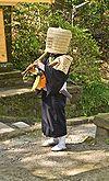 Komuso Buddhist monk beggar Kita-kamakura.jpg