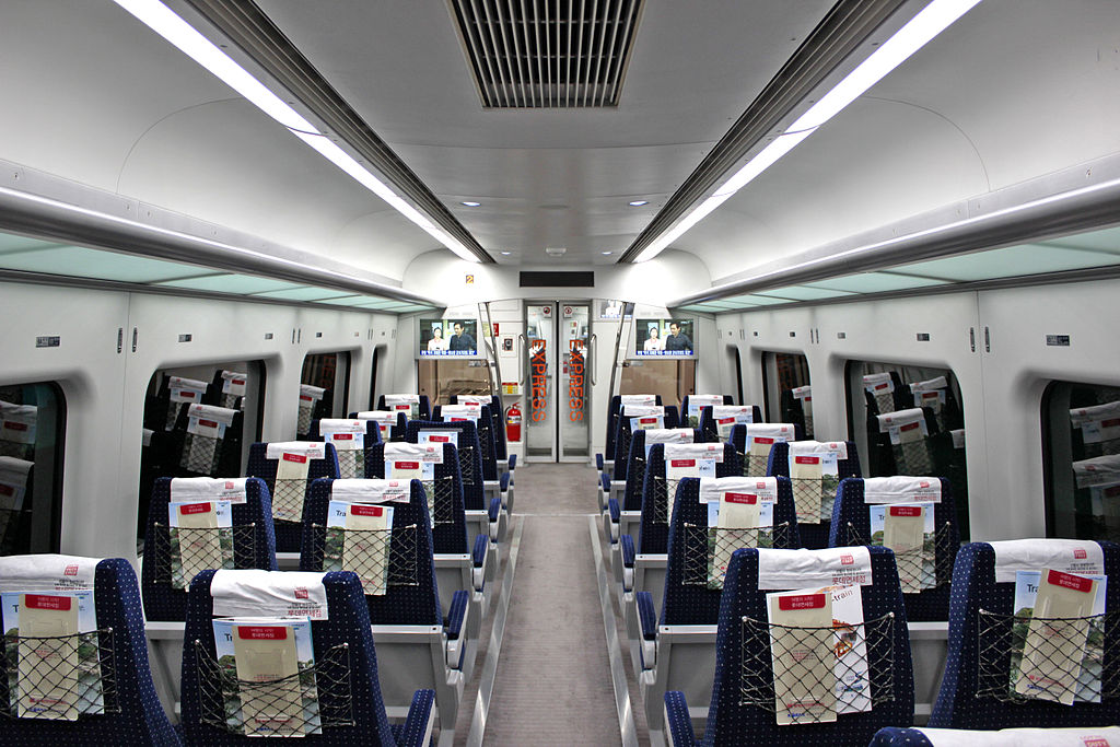 Korail A'rex Direct Train Interior