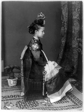 Kisaeng - A Kisaeng girl c. 1910