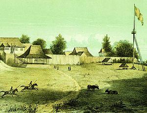 Banjarmasin War - The Kraton (palace) of the Sultan of Bandjermasin
