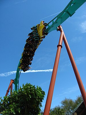 Kumba (roller coaster) - The zero-g roll, where riders experience a feeling of weightlessness