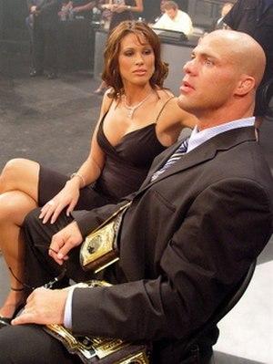 Karen Jarrett - Karen and Kurt Angle watching a match at ringside during an episode of Impact!.