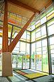 Kwantlen Polytechnic University, Cloverdale campus, front entrance (interior).jpg