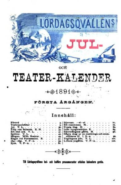 File:Lördagsqvällens jul- och teater-kalender (Hfrs, 1891).djvu