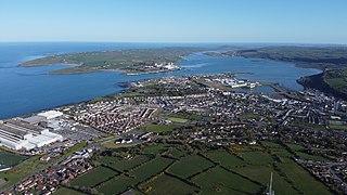 Larne Town (and civil parish) in County Antrim, Northern Ireland