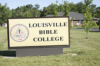 Louisville Bible College - Image: LBC Sign and Library