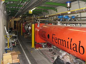 Large Hadron Collider - Superconducting quadrupole electromagnets are used to direct the beams to four intersection points, where interactions between accelerated protons will take place.