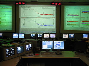 Gravitational-wave astronomy - The LIGO Hanford Control Room