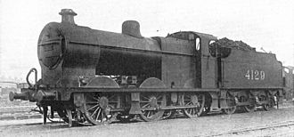 LMS Fowler Class 4F - 4129 with number on the tender, pre-1928