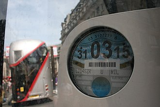 Vehicle Excise Duty - Prior to 2014, UK vehicles were required to display a tax disc as evidence of payment