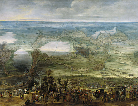Painting of the siege of Breda in 1624 La infanta Isabel Clara Eugenia en el sitio de Breda (Museo del Prado).jpg