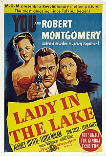<i>Lady in the Lake</i> 1947 film by Robert Montgomery