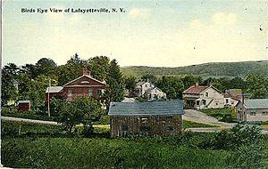 Milan, New York - Lafayetteville in 1918