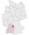 Lage des Landkreises Schwaebisch Hall in Deutschland.png
