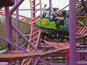 Spider (roller coaster) - Image: Lagoon Adventure 1 004