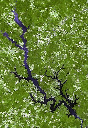 Lake Oconee - Satellite image