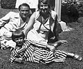 Laki Farkas Jenő cigányprímás és családja. Fortepan 13699.jpg