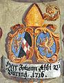 Landhaus Klagenfurt Kleiner Wappensaal Abt Johann zu Viktring 1716 25052011 886.jpg