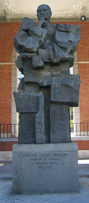 Francisco Largo Caballero - Monument of Largo Caballero
