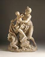 Лето с детьми, Артемидой и Аполлоном. Скульптура Лазаря Видеманна около 1742 года. Музей искусств округа Лос-Анджелес