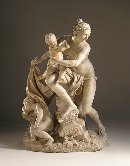 Leto holding Apollo, by Lazar Widmann Latona with Her Children Apollo and Diana LACMA M.78.86.jpg