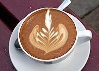 * Description: Coffee cortado (An latte...