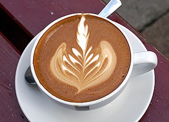 Microfoam - Microfoam is primarily used for making latte art, such as this rosette.