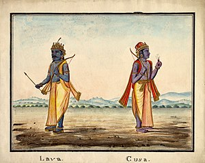 Lava (Ramayana) - Lava and Kusha, sons of Rama