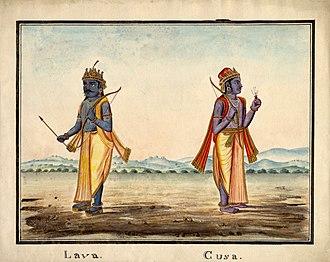 Lava (Ramayana) - Lava and Kusha, sons of Rama